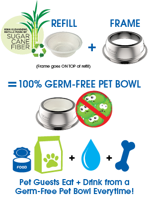 100% Germ Free Petbowl